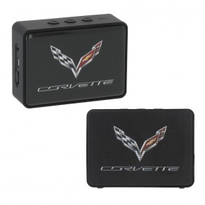 C7 Corvette Crossed Flags | Bluetooth Speaker