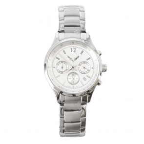 Ladies Silver Chronograph Watch - Silver