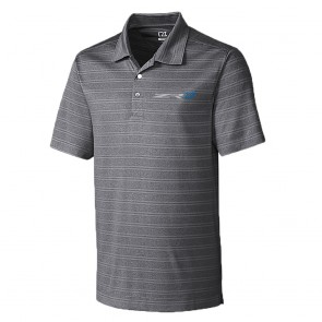 Cutter & Buck ZR1 Striped Polo - Charcoal Heather