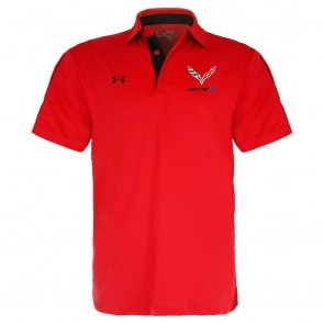 Under Armour ZR1 Tech Polo | Red/Black