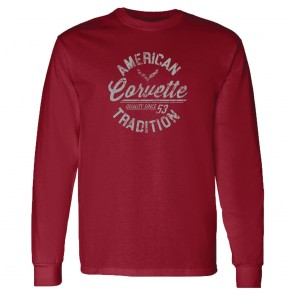 American Tradition | Long Sleeve Tee - Garnet