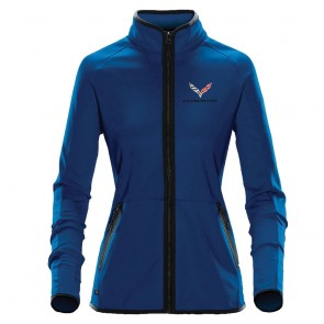 Ladies Traveler Fleece Jacket | Azure Blue