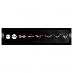 Corvette Generation Emblem | Framed Canvas Print