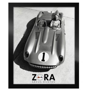 Corvette Zora Black & White | Framed Canvas Print