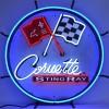 Corvette C2 Stingray   Round Neon Sign
