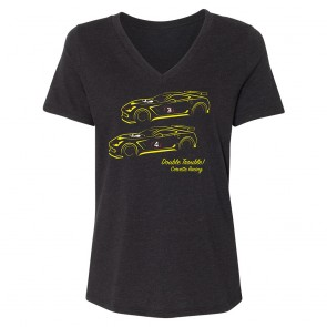 Ladies Double Trouble Tee - Black Heather