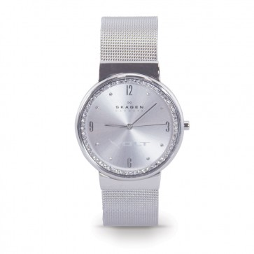 Volt Women's Crystal Steel Mesh Skagen Watch